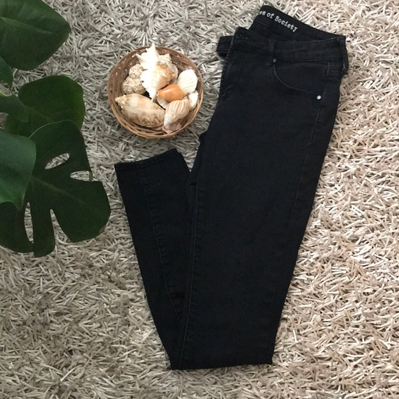 Articles Of Society Denim - Articles of Society Black Skinnies Size 25